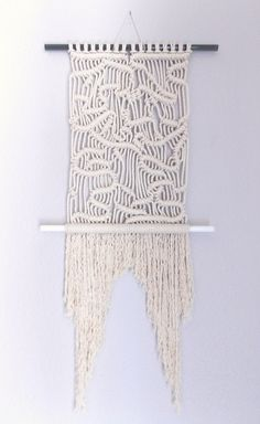 Modern macrame wall haninging :The Maze: HIMO ART fo Urban Outfitters