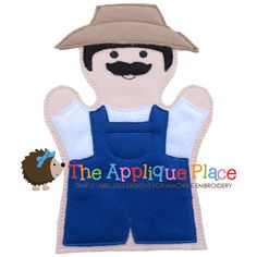 Farmer Hand and Finger Puppet In The Hoop by TheAppliquePlace, $4.00