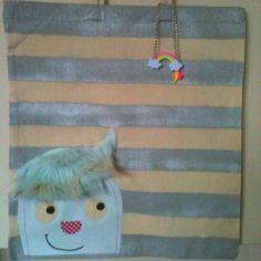 My daughter Eve's design for her 'Little Monster' bag