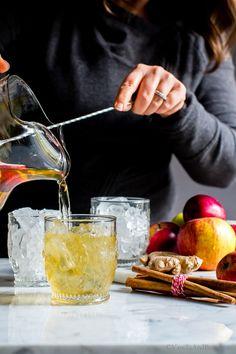 Sparkling Apple Bourbon Sangria   Vanilla and Bean