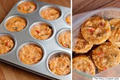 Freeze leftover soup in a cupcake tin. Pop them out, and you'll have ready-to-heat individual soup portions. 17 DIY Kitchen Tips That Will Forever Change Your Favorite Room Freezer Cooking, Freezer Meals, Cooking Tips, Cooking Recipes, Freezer Recipes, Freezing Soup, Good Food, Yummy Food, Cupcake