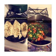 #MealPrepSunday #Chicken #PeasAndCarrots #IStayBasic #WeightLossJourney  #WLJourney by jo_nicki