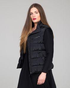 3c33d79b1020 Quilted γιλέκο σε μαύρη απόχρωση — mat. XXL sizes — Γυναικεία Ρούχα