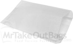 Large White Grease Resistant Paper Sandwich Bags - 6 x 2 x 9""