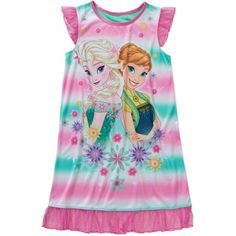 Frozen Fever Girls' License Flutter Sleeve Pajama Sleep Gown - Walmart.com