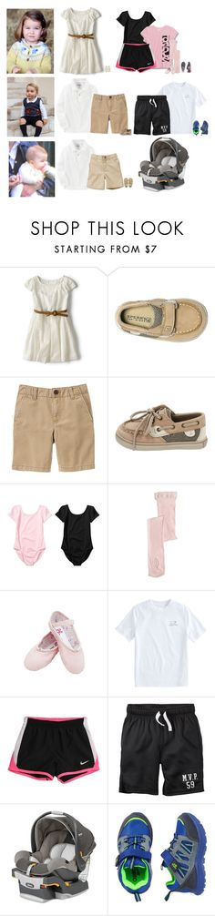 """""""8/14/17 Activities and playing at home."""" by running-wild ❤ liked on Polyvore featuring Zara, Sperry, Gymboree, Danskin, Vineyard Vines, NIKE, CHICCO and J.Crew"""