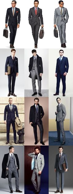 """""""Look for slim-fit or tailored-fit cuts to cast a sleeker, contemporary silhouette around the office."""" #men's #business #fashion"""