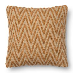 Alexander Home Woven Chevron Feather and Down Filled or Polyester Filled 18-inch Throw Pillow or Pillow Cover (Down Feather Filled - Green), Size 18 x 18