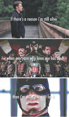 """""""death doesn't discriminate  between the sinners and the saints it takes and it takes and it takes"""" Hamilton lyrics for Captain America. Direct hit to the feels."""