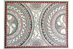 Exploring tribal arts of India: Madhubani Madhubani Paintings Peacock, Tanjore Painting, Madhubani Art, Worli Painting, Fabric Painting, Mandala Drawing, Mandala Art, Mandala Design, African Art Paintings