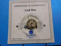 BATTLE GETTYSBURG CIVIL WAR GENERAL LEE 2000 LIBERIA 1/2 GRAM .585 GOLD COIN #2