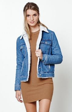 2245a39cf8 Kendall and Kylie Sherpa Lined Denim Jacket at PacSun.com
