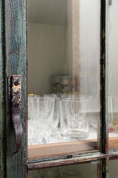 pantry commission close up of glass and old hardware door pull by Matthew  Holdren, via Flickr