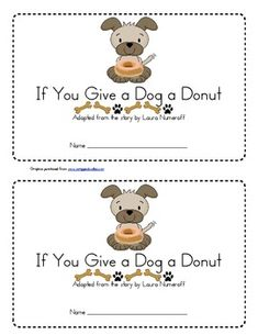 if you give a dog a donut book coloring page camp crafts pinterest laura numeroff. Black Bedroom Furniture Sets. Home Design Ideas