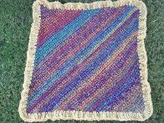 Diagonal Pattern Baby Blanket (Crochet) by Lion Brand Yarn