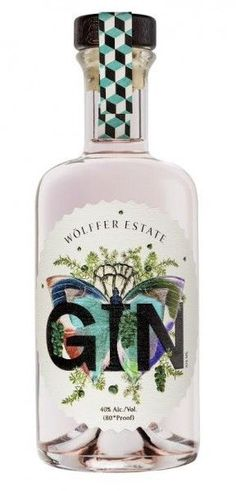 Distilled from Wolffer Estate Rose wine to use as the gin base. For the main flavoring they use Juniper berries picked by hand from the bushes at their beautiful. Bottle Packaging, Brand Packaging, Packaging Design, Whisky, Tequila, Best Alcohol, Gin Tasting, Best Gin, Gin Brands
