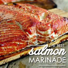 Salmon Marinade The best salmon marinade you'll ever taste! Makes it amazing!The best salmon marinade you'll ever taste! Makes it amazing! Grilling Recipes, Fish Recipes, Seafood Recipes, Great Recipes, Cooking Recipes, Favorite Recipes, Healthy Recipes, Smoker Recipes, Popular Recipes