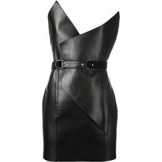 Saint Laurent belted mini dress (146 810 UAH) ❤ liked on Polyvore featuring dresses, black, vestidos, short dresses, mini dresses, leather dresses, short cocktail dresses, yves saint laurent, leather mini dress and short mini dress