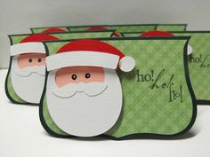 Santa Claus Note Cards  set of 6 by hdawnparratt on Etsy, $6.50