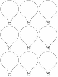 hot air balloon printables each students uses lines and patterns to show their goals for