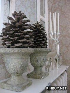 pine cones - Christmas Decorations