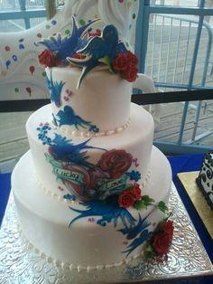 Tattoo wedding cake