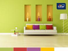 Nomes das cores: Verde Limão / Amor / Azaleia / Esplendor / Branco Absoluto