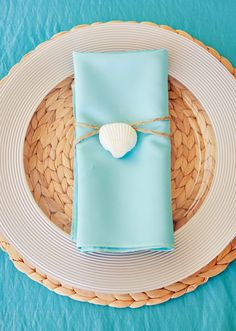 Dazzling Under the Sea Party with streamer & bead backdrop, sand dollar cookies, octopus cake pops, white floral + seashell centerpieces & jellyfish lanterns! Mermaid Under The Sea, Under The Sea Theme, Under The Sea Party, Sand Dollar Cookies, Seashell Centerpieces, Octopus Cake, Little Mermaid Parties, Wedding Napkins, Party Napkins