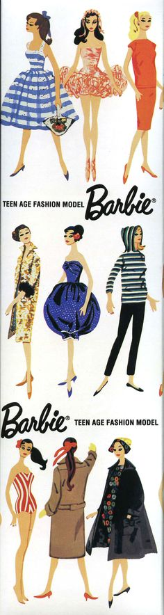 Barbie Vintage Illustration
