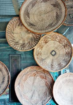woven baskets, South Africa | lark&linen