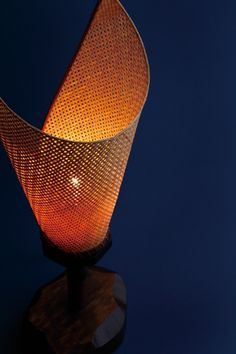 Bamboo table light by Kyokusho Tanaka, Japan