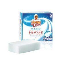 Procter & Gamble Mr. Clean Magic Eraser Foam Pad,4 count by PROCTER GAMBLE. $15.60. Mr. Clean Magic Eraser Pads feature an innovative cleaning material that penetrates surface grooves where dirt and grime get trapped. Remove set-in dirt on stoves, refrigerators and other appliances. Clean scuff marks and dirt from walls, floors and doors. Magic Eraser Pads easily and thoroughly break up tough dirt with just water alone.. Save 73%!