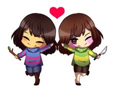 Undertale Chibis ft. Frisk and Chara by MegsArt22 on DeviantArt