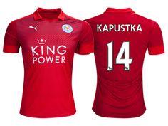 Leicester City #14 Bartosz Kapustka 2016-17 Road Short Shirt