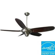 Hampton Bay, Altura 56 in. Brushed Nickel Ceiling Fan, 69156 at The Home Depot - Mobile