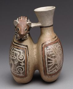 Double Vessel with Mouse [Peru; Recuay] (66.30.2) | Heilbrunn Timeline of Art History | The Metropolitan Museum of Art