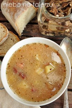 Kitchen Recipes, Soup Recipes, Cooking Recipes, Healthy Dishes, Healthy Recipes, Poland Food, Good Food, Yummy Food, Specialty Foods