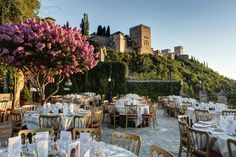 Wedding in a restaurant with beautiful gardens Wedding and Events in Spain wedding package Granada Portugal Wedding Venues, Best Wedding Venues, Wedding Locations, Wedding Destinations, Wedding Places, Destination Weddings, Wedding Stuff, Wedding Dress Separates, Spanish Wedding