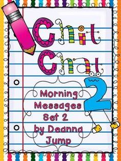 Chit Chat Morning Messages Set 2 {aligned with Common Core Standards} - Deanna Jump - TeachersPayTeachers.com