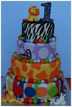 Birthday Cake with Animals