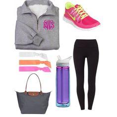 •Monogram Sweatshirt •leggings •long champ tote •camelbak •nike free runs
