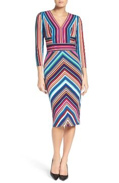 Free shipping and returns on Maggy London Stripe Midi Dress (Regular & Petite) at Nordstrom.com. Color-pop stripes vary in direction to flatter your figure in this chic, office-ready sheath.