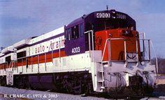 AUTO TRAIN 4003,U36B#38034,Built 11/71.