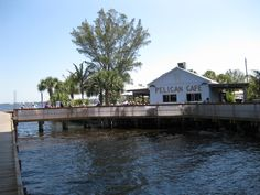 Pelican Cafe ~ Stuart, Fl   (Dog Friendly)... Was here yesterday and the weather was great! It sits beneath the Roosevelt Bridge.