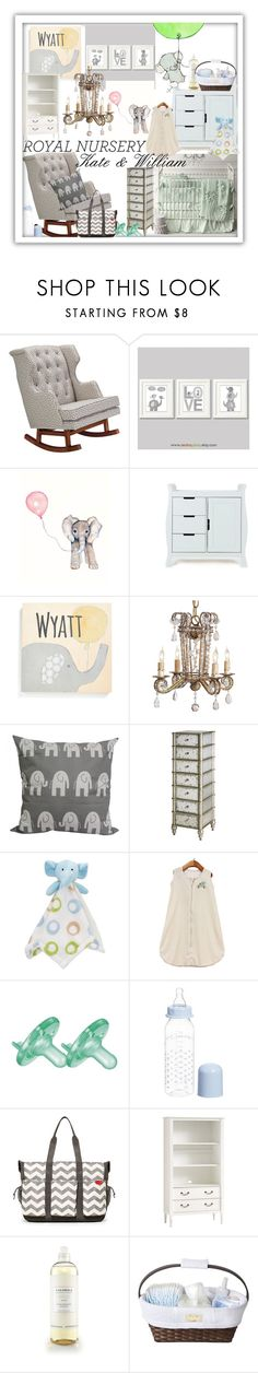 """""""Royal Nursery"""" by bellrae ❤ liked on Polyvore featuring interior, interiors, interior design, home, home decor, interior decorating, Nursery Works, WALL, Someday Inc. and Taylor Marie Studio"""