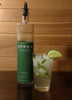 "We are back with part 4 of 4 using Effen Cucumber Vodka to craft wonderful cocktails. This week's drink is the ""Cucumber Mojito""."
