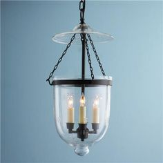 Engraved Star Glass Smokebell Lantern