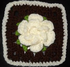 Catherine's Granny Square - Love granny's with the 3D flowers