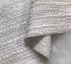 d1fdc806ccb Silver Pearl White Polyester Linen Fabric Metallic Woven Fabric Tweed Fabric  by the Yard by ViennJadeWorkshop