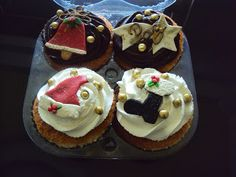 Artesanato  Doce: kit de cupcakes natalinos